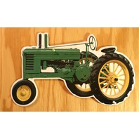 John Deere Tractor Die Cut Tin Sign Farm Country Barn Decor Harvester B75