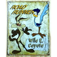 Wile E Coyote & Road Runner Tin Sign 60's Cartoons Looney Toons Mel Blanc B15