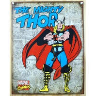Thor Marvel Comics Tin Sign The Avengers Spiderman Hulk Captain America C62