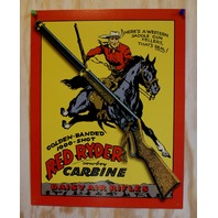 Daisy Red Ryder Tin Sign Air Rifle Pellet Gun Cowboy Christmas Story Western 32