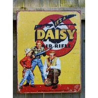 Daisy Air Rifle Tin Sign Man Cave Garage Country Pellet BB Gun Shoot Cowboy s8
