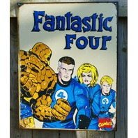Marvel Comics Retro Fantastic Four 4 Stretch Human Torch Thing Tin metal Sign 22