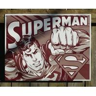 Superman DC Comics Tin Metal Sign Comic Book Superhero Man of Steel Garage 18