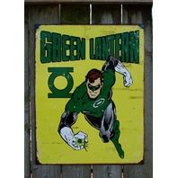 Green Lantern DC Comics Tin Metal Sign Comic Book Superhero Mancave Retro 19A