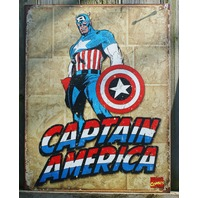 Marvel Comics Captain America Tin Sign Man Cave Garage Comic Red White Blue 28