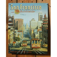 san Francisco TWA Airline Tin Sign California Giants 49ers Trolley Airplane