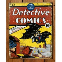 Detective Comics no. 27 Batman Tin Sign DC Comic Book Joker Dark Knight