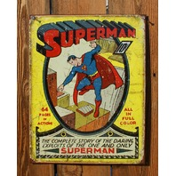 Superman Tin Sign DC Comic Book Classic Vintage Style Super Hero Clark Kent  G105