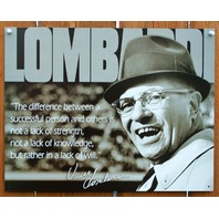 Vince Lombardi Successful People Tin Sign NFL Football Greenbay Packers D80