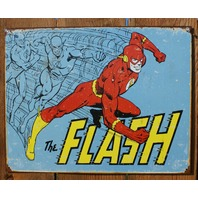 The Flash Tin Sign Detective Comics DC Comic Book Justice League Super Hero