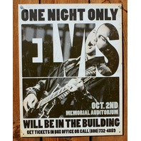 Elvis Presley Gig Concert Poster Tin Sign Rock & Roll Home Recording Studio F13