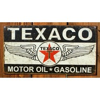Texaco Motor Oil Gasoline Tin Sign Service Station Chevron Standard Oil & Gas E95
