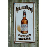 Anheuser Busch Budweiser American Eagle Bud Tin Sign Garage Bar Beer Alcohol