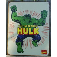 Marvel Incredible Hulk Tin Sign Man Cave Bar Bruce Banner Garage Green Comic 22