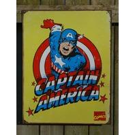 Captain America Marvel Comics Tin Metal Sign Comic Book Superhero SHEILD 5a