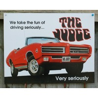 Pontiac GTO The Judge Tin Sign Man Cave Garage Hot Rod Muscle Car Classic V8 21a