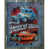 American Dream Tin Sign Man Cave Garage Hot Rod Muscle Car Rat Rod V8 Drag 21a