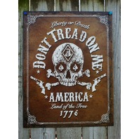 Dont Tread On Me Tin Sign Man Cave Liberty America Tea Party Americana USA 17A