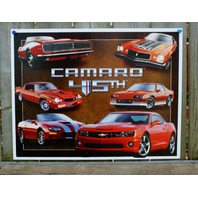 Chevy Camaro 45th Tin Sign Man Cave Garage Chevrolet RS IROC Z28 V8 350 Car 27A