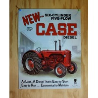 Case Diesel Model 500 Tin Sign Farm Tractor eagle Logo AD Country Barn Plow E31
