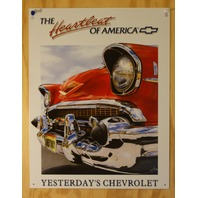 Heartbeat of America Chevrolet Tin Sign Chevy Bel Air Corvette 350 454 V8 B11