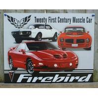 Pontiac Firebird Tin Sign Man Cave Garage Trans AM Rod Muscle Car Classic V8 F33