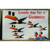 Guinness Beer Tin Sign Bar Garage Pelican Logo Man Cave Alcohol Business C47