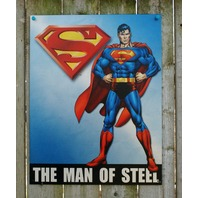 Superman Man of Steel DC Comics Tin Sign Comic Book Superhero Man Cave 28