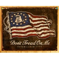 Dont Tread On Me Tin Sign 1776 America Tea Party Americana USA American Flag B9