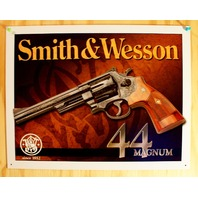Smith & Wesson 44 Magnum Tin Sign .44 Cal Hand Gun Pistol Ammo Revolver F73