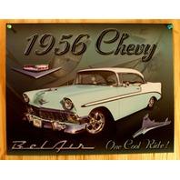 1956 Chevy Bel Air One Cool Ride Tin Sign Chevrolet 350 454 V8 Classic Car B7