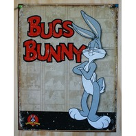 Bugs Bunny Looney Tunes Warner Bros Tin Sign Rabbit Cartoon Childs Birthday 31