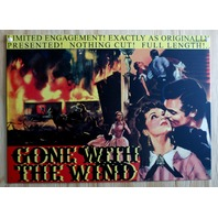 Gone With The Wind Tin Sign Scarlet Clark Gable South Movie Poster Theater E26