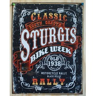 Sturgis Bike Week Classic South Dakota Motorcycle Rally Tin Metal sign Poster D99