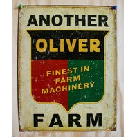 Another Oliver Farm Tin Sign Tractor Country Barn Garage Kitchen Home Decor  F34