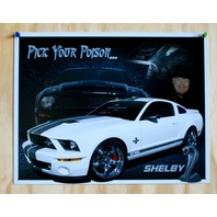Ford Shelby Mustang GT 500 Tin Sign Garage Hot Rod Drag Racer V8 Cobra Cave 23
