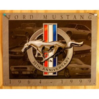 Ford Mustang 35th Ann. Tin Sign GT 5.0 Boss Fastback Shelby Pony Muscle Car B8