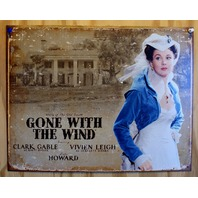 Scarlet Ohara Gone With The Wind Tin Sign Clark Gable Southern Belle Movie