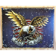 Live To Ride Tin Sign Sturgis Motorcyle Eagle HD Garage Man Cave USA Bike 16A