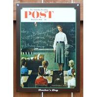 Saturday Evening Post Tin Metal Sign Teachers Day School Teacher Classroom Class
