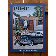 Saturday Evening Post Tin Sign Golf Wife Marriage Humor Comedy B68