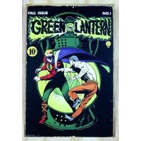 Green Lantern DC Comics Tin Metal Sign Comic Book Superhero Justice League B38