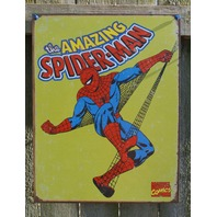 Marvel Comics Amazing Spiderman comic bookTin Metal Sign web slinger retro 5A
