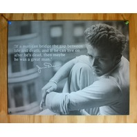 James Dean Great Man Quote Tin Sign Film Movie Home Theater Black & White  B14