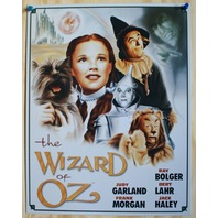 Wizard Of Oz Tin Sign Movie Poster Tin Man Dorothy Scarecrow Lion Toto 6A