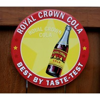 Royal Crown RC Cola Tin Metal Round bottle Sign Soda Pop Drink Classic Logo C115