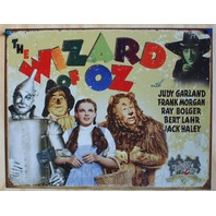 Wizard Of Oz Tin Metal sign Movie Poster Tin Man Dorothy Scarecrow Lion Toto D26