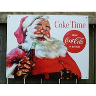 Coca Cola Santa Claus Tin Sign Garage Man Cave Business Soda Coke Saint Nick 11