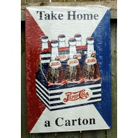 Pepsi Cola Take Home a Carton Aluminum Sign Garage Man Cave Business Soda 12