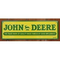 John Deere Trademark Tractor Metal Sign Farm Barn Country Home Garage B73
